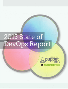 2013 State of DevOps Report