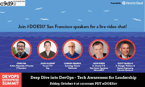 Catch DOES17 Speakers and Gene Kim October 6, LIVE on Continuous Discussions!